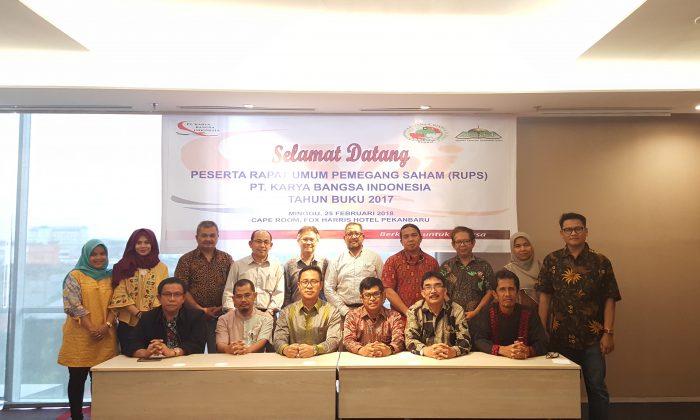 Rapat Umum Pemegang Saham (RUPS) PT. KBI Tahun Buku 2017